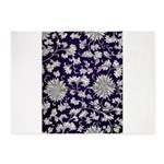 Abstract Whimsical Flowers 5'x7'Area Rug
