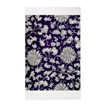Abstract Whimsical Flowers Area Rug