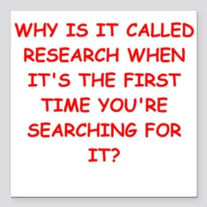 """research Square Car Magnet 3"""" x 3"""""""