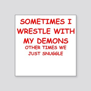 "demons Square Sticker 3"" x 3"""