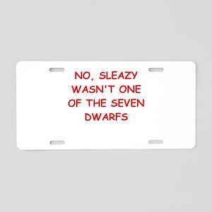 sleazy Aluminum License Plate