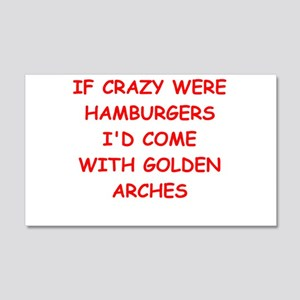 crazy 20x12 Wall Decal