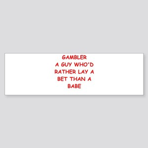 GAMBLER Sticker (Bumper)