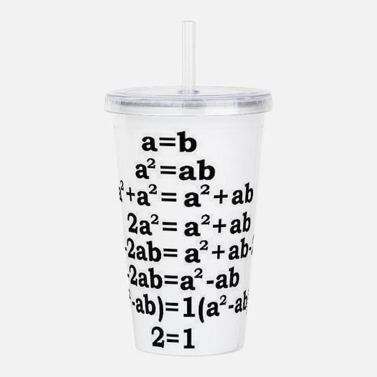 math genius Acrylic Double-wall Tumbler