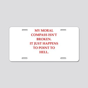 immoral Aluminum License Plate