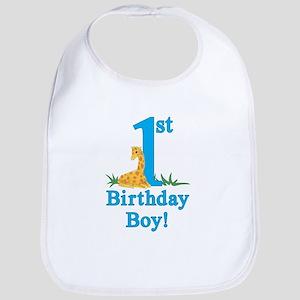 First Birthday Giraffe Bib