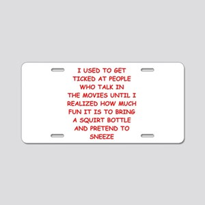movies Aluminum License Plate