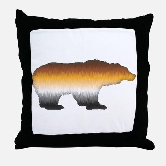FURRY BEAR PRIDE BEAR CUTOUT Throw Pillow