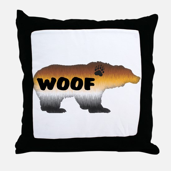 FURRY PRIDE BEAR/WOOF Throw Pillow