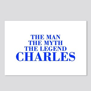 The Man Myth Legend CHARLES-bod blue Postcards (Pa