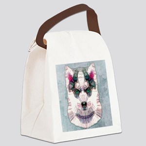 abstract sibirian husky Canvas Lunch Bag