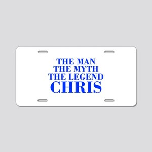 The Man Myth Legend CHRIS-bod blue Aluminum Licens