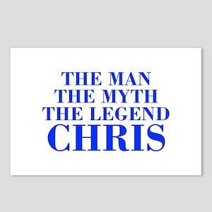 The Man Myth Legend CHRIS-bod blue Postcards (Pack