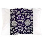 Abstract Whimsical Flowers Pillow Case