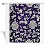 Abstract Whimsical Flowers Shower Curtain