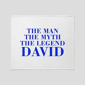 The Man Myth Legend DAVID-bod blue Throw Blanket