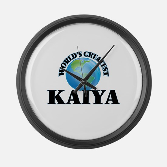 World's Greatest Kaiya Large Wall Clock
