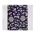 Abstract Whimsical Flowers Throw Blanket