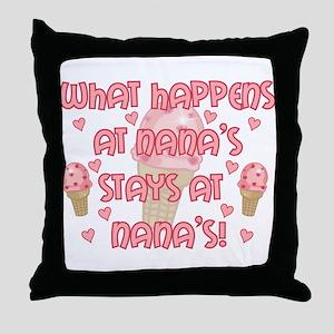 Pinknanas Throw Pillow