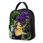 Peacock Butterfly on Purple sq Neoprene Lunch Bag