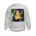 Peacock Butterfly on Purple sq Sweatshirt