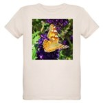 Peacock Butterfly on Purple sq T-Shirt