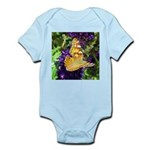 Peacock Butterfly on Purple sq Body Suit