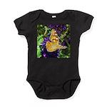 Peacock Butterfly on Purple sq Baby Bodysuit