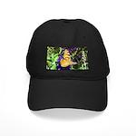 Peacock Butterfly on Purple sq Baseball Hat