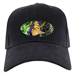 Peacock Butterfly on Purple sq Baseball Hat
