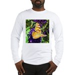 Peacock Butterfly on Purple sq Long Sleeve T-Shirt