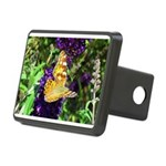 Peacock Butterfly on Purple sq Hitch Cover