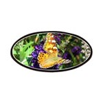 Peacock Butterfly on Purple sq Patches