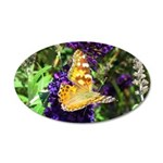 Peacock Butterfly on Purple sq Wall Decal
