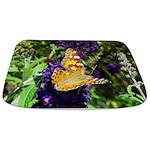 Peacock Butterfly On Purple Sq Bathmat