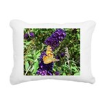 Peacock Butterfly on Purple sq Rectangular Canvas