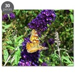 Peacock Butterfly on Purple sq Puzzle