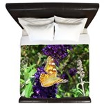 Peacock Butterfly on Purple sq King Duvet