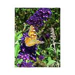 Peacock Butterfly on Purple sq Twin Duvet