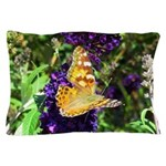 Peacock Butterfly on Purple sq Pillow Case