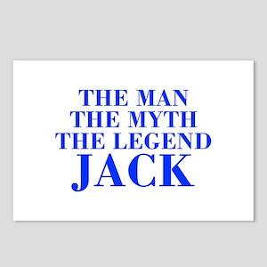 The Man Myth Legend JACK-bod blue Postcards (Packa