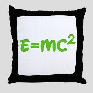E=MC squared 3 Throw Pillow
