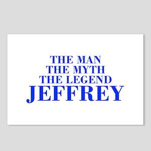 The Man Myth Legend JEFFREY-bod blue Postcards (Pa