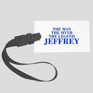 The Man Myth Legend JEFFREY-bod blue Luggage Tag