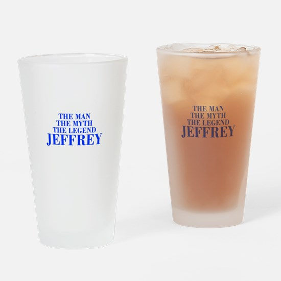 The Man Myth Legend JEFFREY-bod blue Drinking Glas