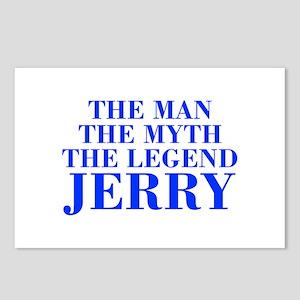 The Man Myth Legend JERRY-bod blue Postcards (Pack