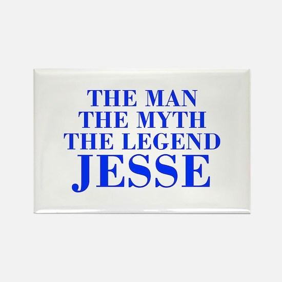 The Man Myth Legend JESSE-bod blue Magnets