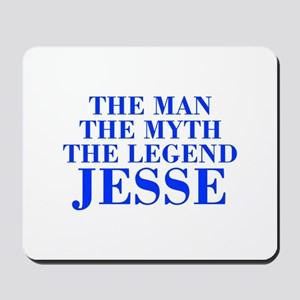 The Man Myth Legend JESSE-bod blue Mousepad