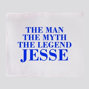 The Man Myth Legend JESSE-bod blue Throw Blanket