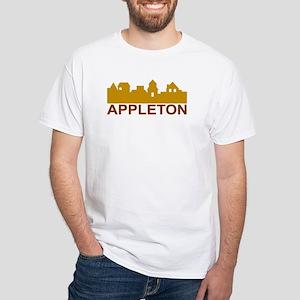 Appleton Wisconsin skyline White T-Shirt